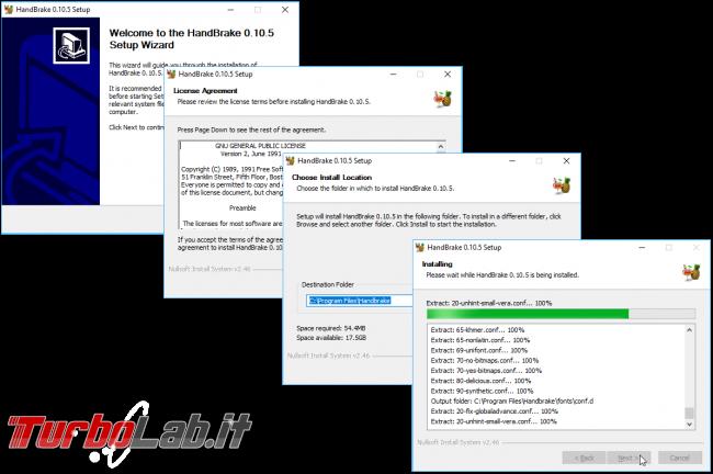 Convertire/copiare film Blu-ray DVD file MP4/MKV (H.264+AAC) - Grande Guida migliori impostazioni Rip HandBrake - handbrake_install