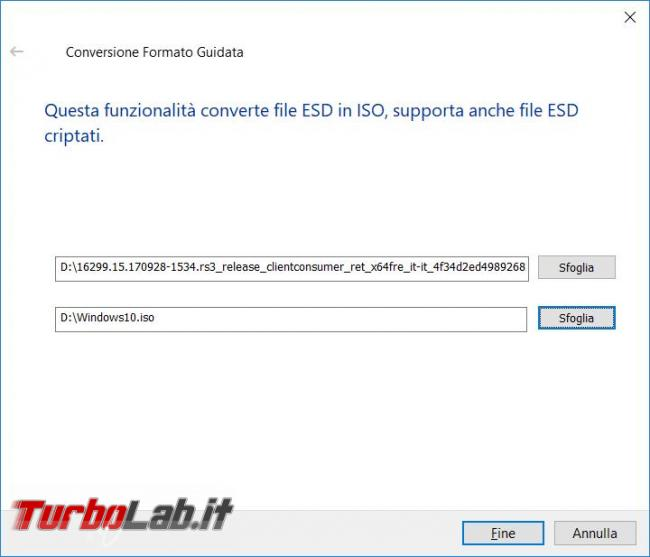 Convertire file ESD (.esd) 'immagine ISO (.iso): guida Windows 10