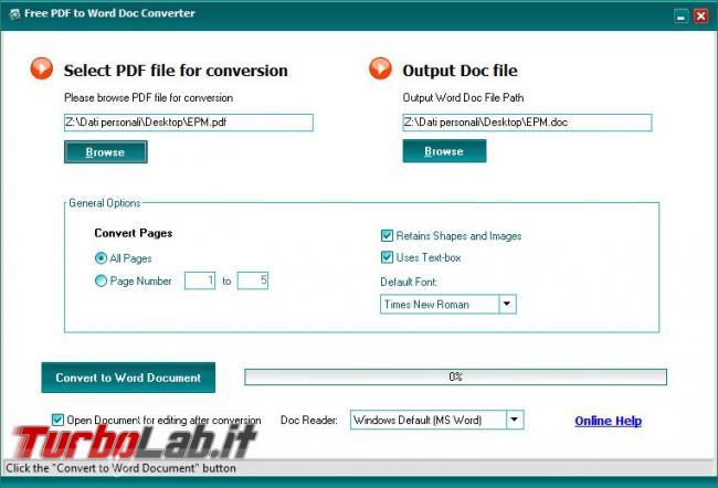 Convertire file PDF documenti modificabili