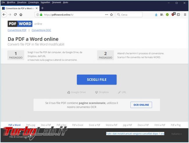 Convertire file PDF documenti modificabili grazie servizi online