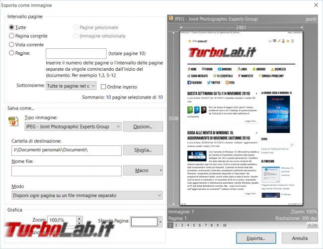 Convertire immagini file PDF file PDF immagini