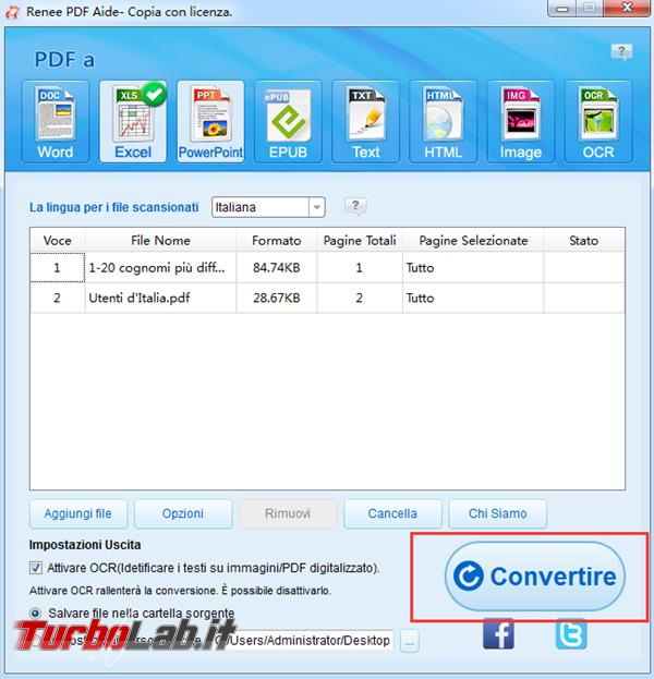 Convertitore gratuito convertire PDF excel altri formati modificabili - 4 convertire file da pdf a excel_600