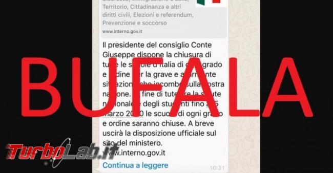 Coronavirus: bufale fake news proliferano web