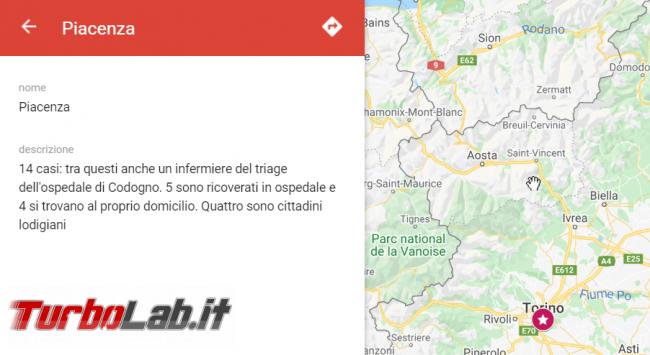 Coronavirus Italia: mappa contagi Google My Maps - FrShot_1582723396