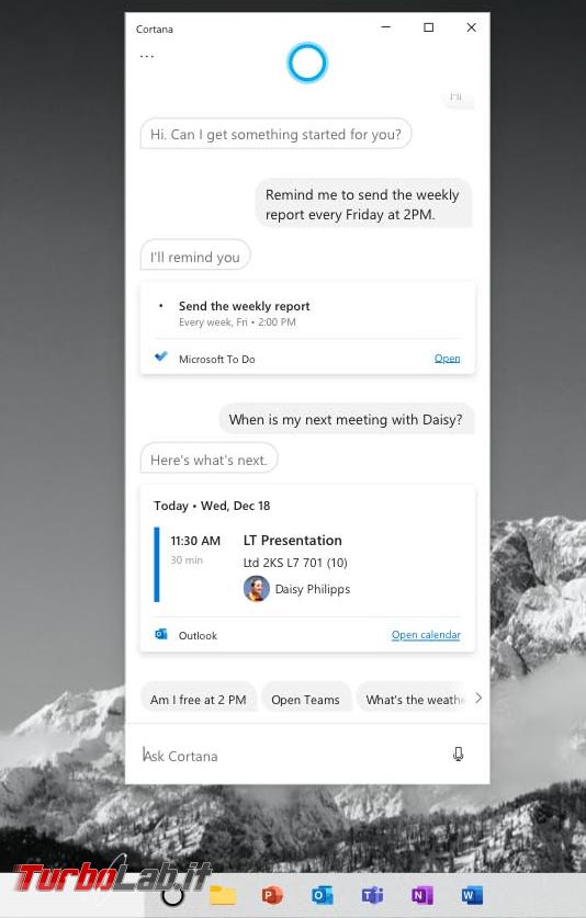Cosa c'è nuovo Windows 10 2004, Aggiornamento Maggio 2020 (20H1)? Tutte novità funzioni upgrade (video) - cortana windows 10