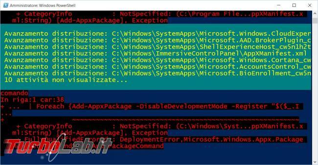 Cosa fare quando app vanno crash Windows 10