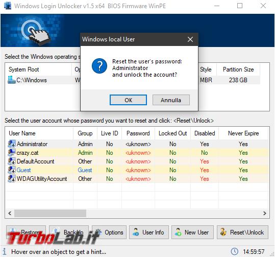 Cosa fare quando Windows non carica profilo account