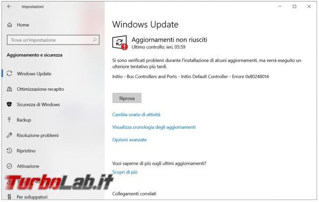 Cosa fare se aggiornamenti Windows Update non funzionano non si installano