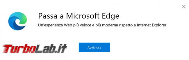cosa fare se Internet Explorer si chiude subito si apre Microsoft Edge posto Windows 10
