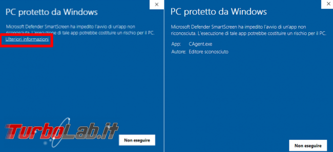 Cosa fare se Microsoft Defender Smartscreen manca possibilità eseguire comunque programma