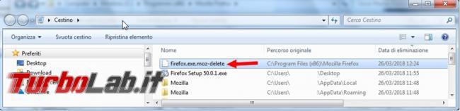 Cosa fare se Mozilla Firefox non si lascia reinstallare chiede sempre riavviare computer