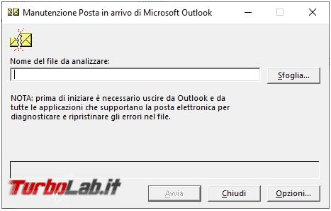 Cosa fare se Outlook non si avvia parte molto lentamente