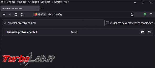 cosa fare se sono spariti tutti flag impostazioni Firefox 91