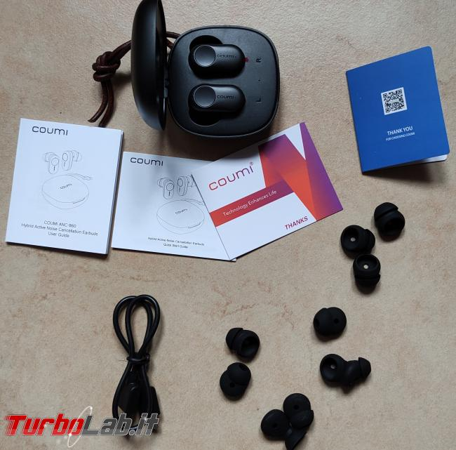 Coumi ANC-860: recensione prova auricolari Bluetooth Senza Fili (TWS) - IMG_20210412_090057