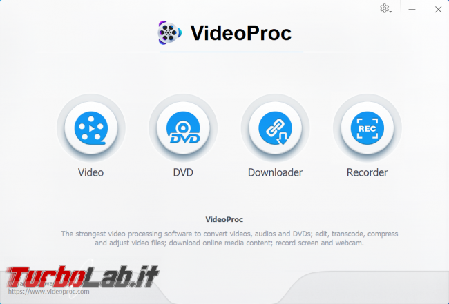 Crea modifica video 4K VideoProc (editor video) - zShotVM_1581865978
