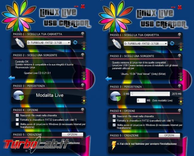 Crea pendrive avviabile Linux Live Usb Creator