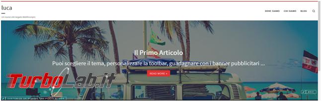Crea presenza online: Come creare sito gratis - sito quasi finito