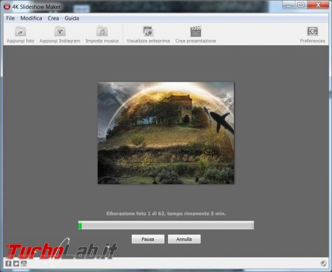 Crea video partendo foto preferite 4K Slideshow Maker