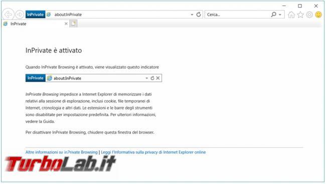 Creare collegamento avviare principali browser modalità incognito