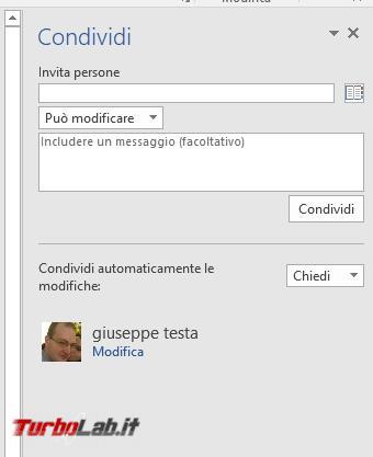 Creare documenti condivisi LibreOffice, Google Documenti Microsoft Office - 2017-04-27 17_20_53-doc1 (Ultimo salvataggio dell'utente) - Word