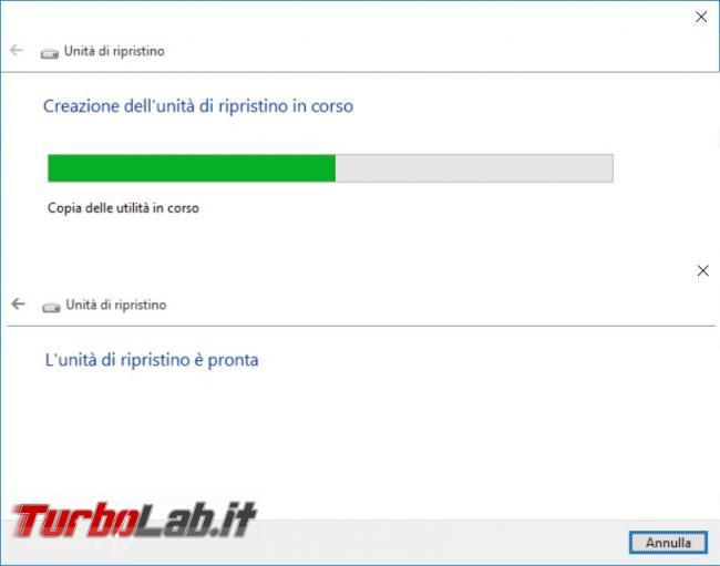 Creare pendrive avviabile risolvere problemi Windows 10
