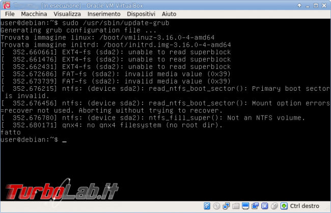 Creiamo server minimale multiuso Debian VirtualBox