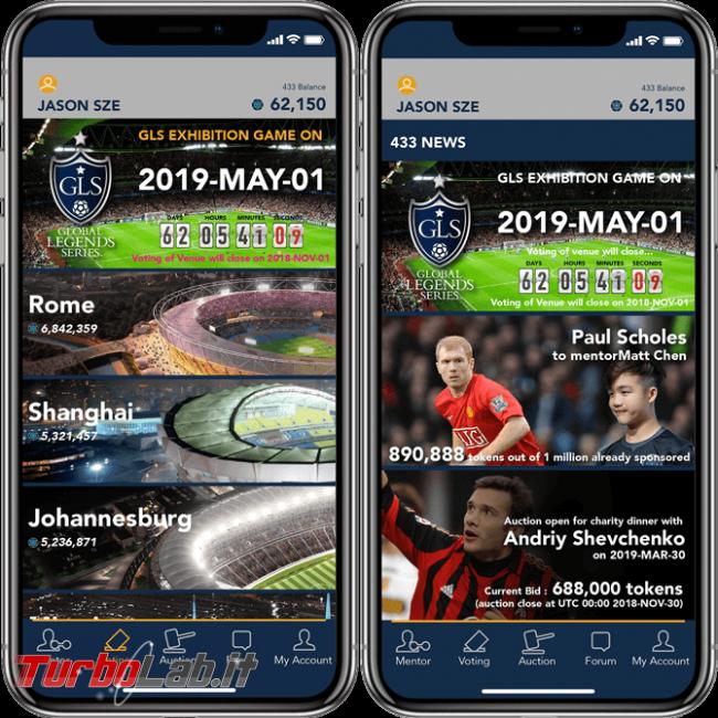 criptovaluta guadagnare rivoluzionando calcio? Recensione 433 Token (video) - smartphone app 02