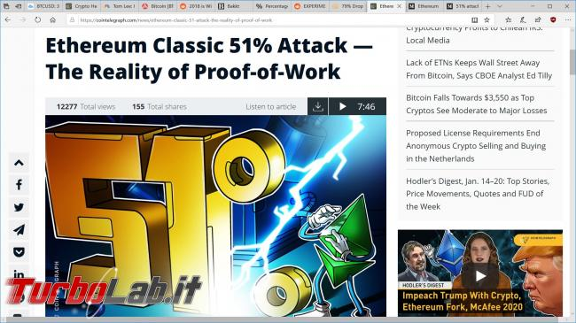 Criptovalute, attacco 51% cos'è: significato, spiegazione facile, conseguenze (video) - ethereum classic etc 51 attacco
