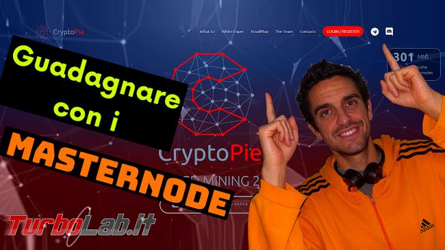 CryptoPie è servizio guadagnare MasterNode condivisi (video recensione) - cryptopie spotlight