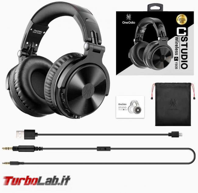 Cuffie Bluetooth OneOdio Studio Wireless C: recensione prova - oneodio cuffie studio wireless 5