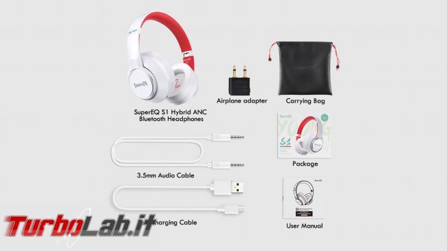 Cuffie Bluetooth OneOdio SuperEQ S1 Active Noise Cancelling: recensione prova
