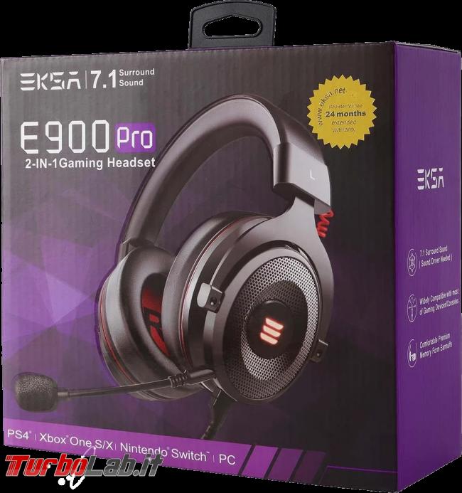 Cuffie gaming EKSA E900 Pro: recensione prova - eska 900 pro confezione