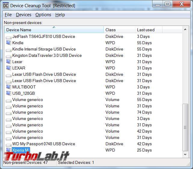 Device Cleanup Tool rimuove chiavi registro periferiche non più collegate computer