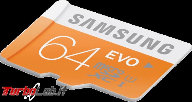 Differenze NTFS, ReFS, exFAT, UDF, FAT32, FAT: quale file system scegliere chiavette USB, SD hard disk portatili? - samsung evo sdxc obliqua