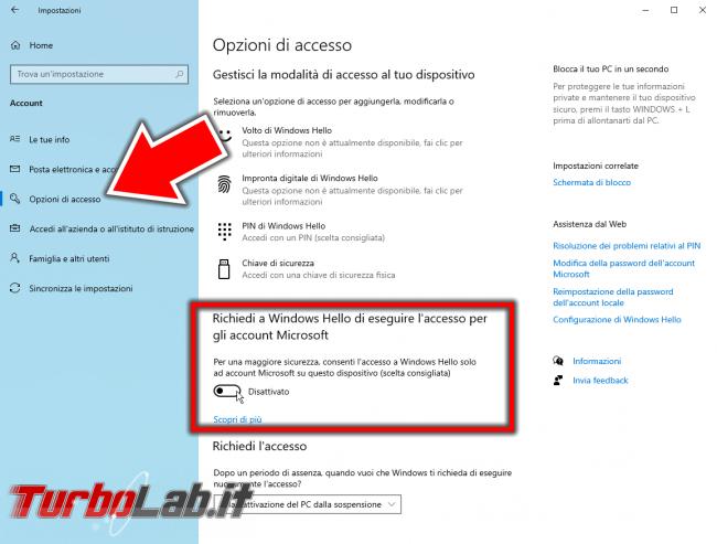 Disabilitare richiesta password accedere automaticamente Windows 10 (versioni 2021/2022) - ApplicationFrameHost_BPv54LUNWC