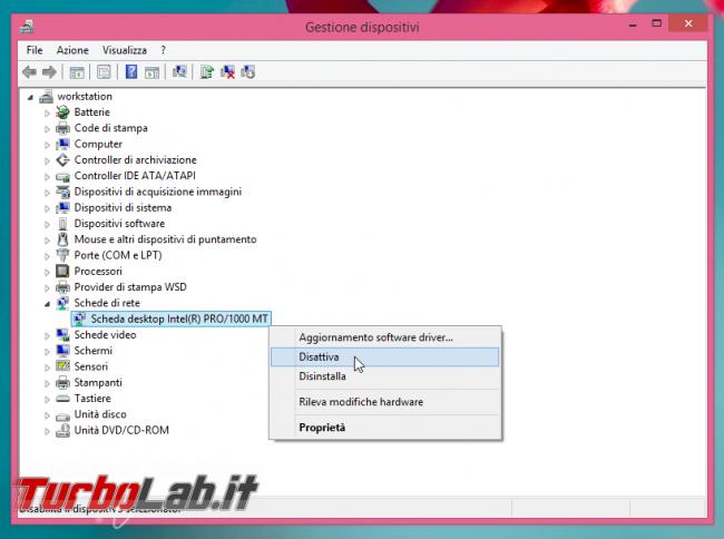 Disabilitare scheda rete connessioni Windows: guida rapida - gestione dispositivi disabilita