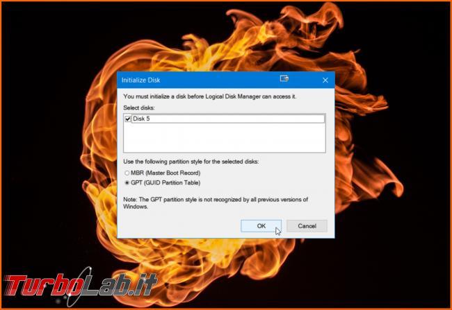 Disco non inizializzato: come inizializzare disco fisso / SSD Windows (MBR/GPT) - gpt mbr spotlight