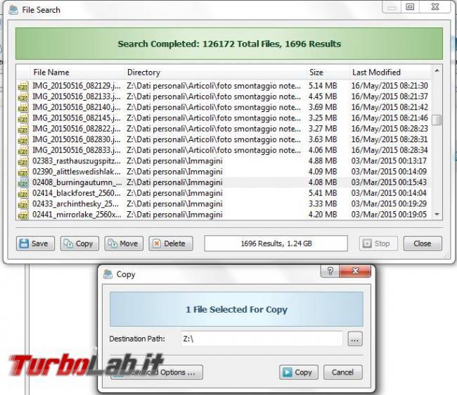 DiskBoss ricerca analizza tipi file presenti hard disk