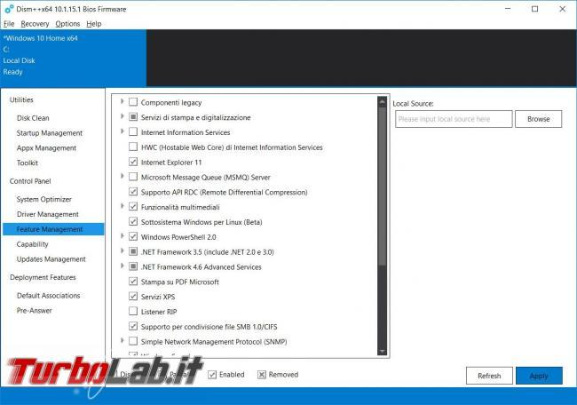Dism++ l'ottimizzatore (estremo) Windows