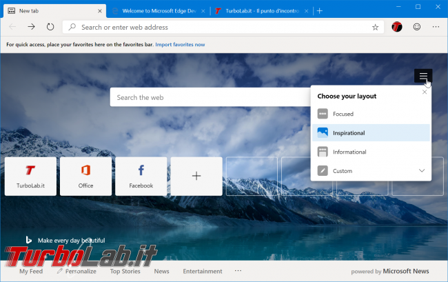 Disponibile ora: Microsoft Edge basato Chromium (preview) - zShotVM_1554763586