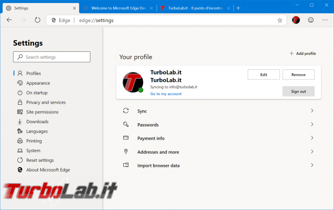 Disponibile ora: Microsoft Edge basato Chromium (preview) - zShotVM_1554763607
