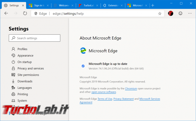 Disponibile ora: Microsoft Edge basato Chromium (preview) - zShotVM_1554764841