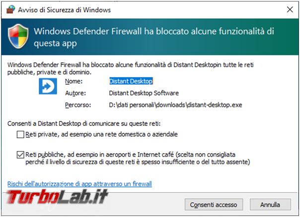Distant Desktop programma gratuito alternativo Teamviewer controllo remoto computer
