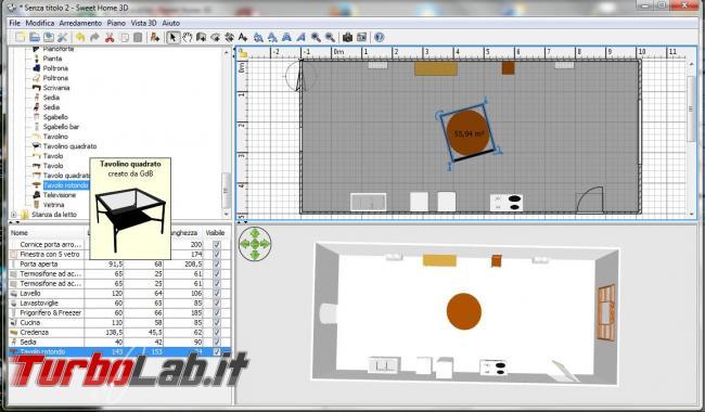 Diventa arredatore d'interni Sweet Home 3D