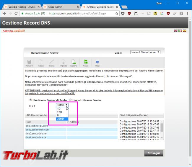 DNS Aruba: come abbassare/ridurre TTL? - Mobile_zShot_1532970769