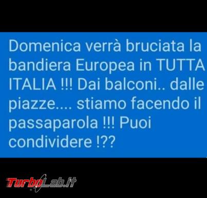 Domenica verrà bruciata bandiera Europea: bufala antieuropeista impazza social - FrShot_1585921968