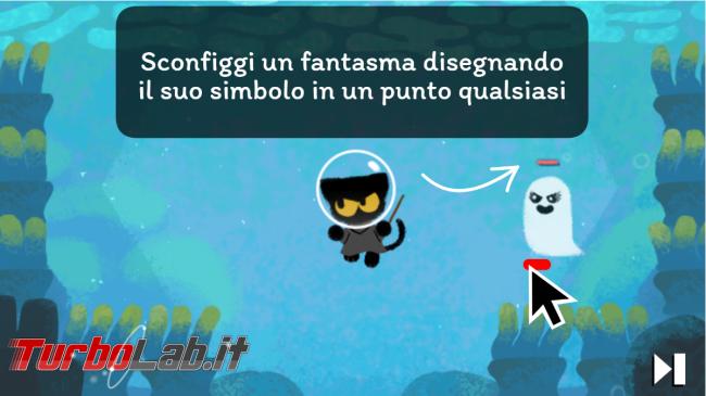 doodle Google Halloween ti sorprende simpatico videogioco - FrShot_1604126508