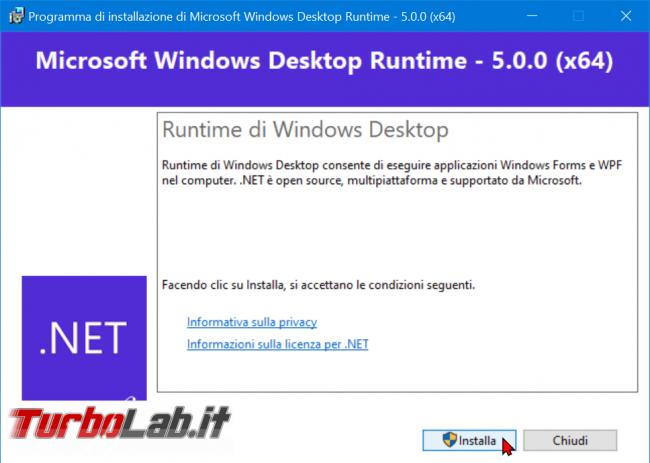 Download .NET Framework 5: ultima versione, setup completo, italiano Windows 10, Windows 8.1 Windows 7 (installazione / Offline Installer) - zShotVM_1605039211
