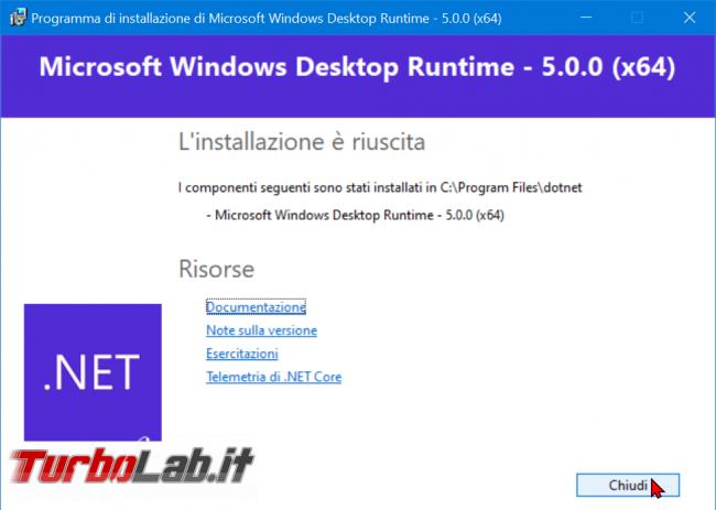 Download .NET Framework 5: ultima versione, setup completo, italiano Windows 10, Windows 8.1 Windows 7 (installazione / Offline Installer) - zShotVM_1605039251
