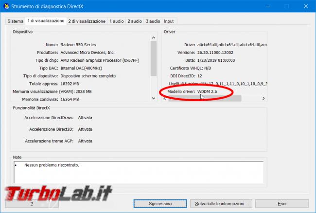Driver GPU: come scoprire versione WDDM supportata - zShot_Insider_1553204323